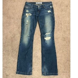 Hollister Distressed Flare Boot Jeans - Size 3